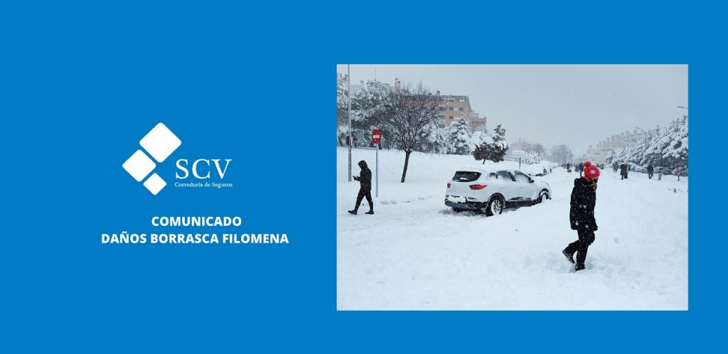 borrasca Filomena Seguros SCV imagen para el blog