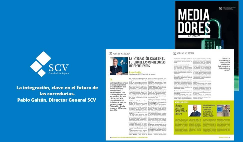 Pablo Gaitán entrevista Revista Mediadores Seguros Valencia 2021